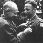 Col. Cain being decorated 1945