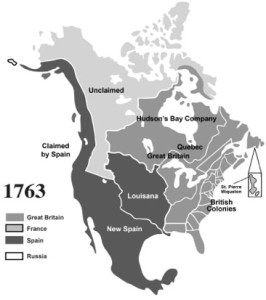 North America after the Treaty of Paris, 1763